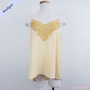 [Express] Cream Eyelet Embroidered Cami